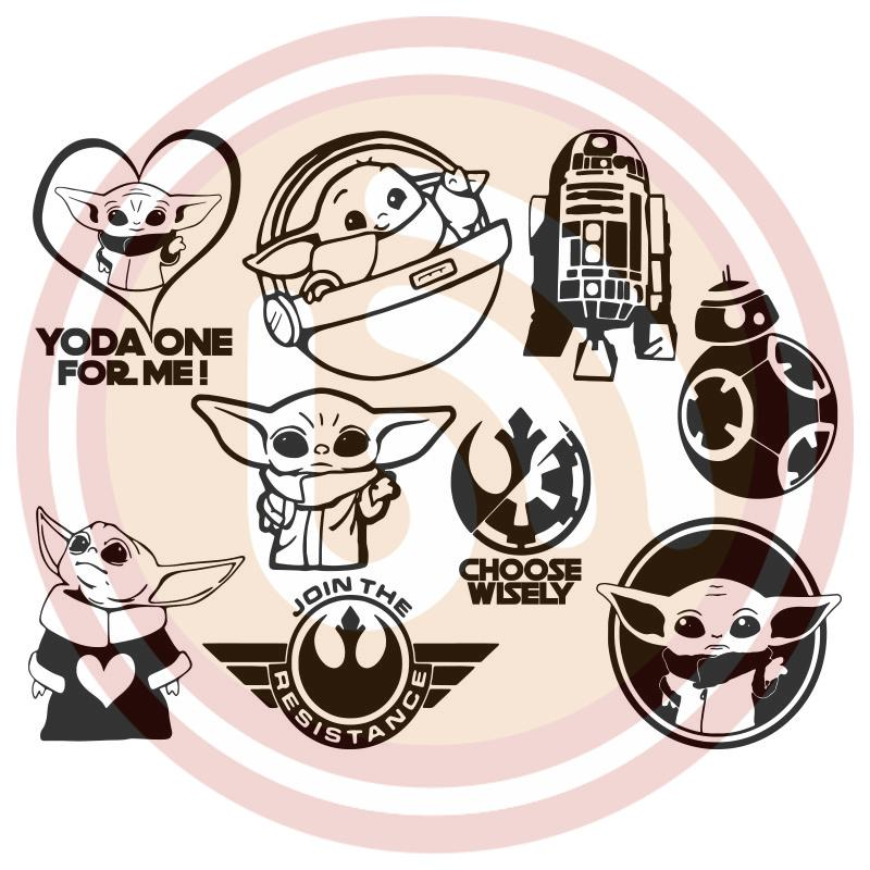 Download Yoda Baby Bundle SVG Files For Silhouette, Files For ...