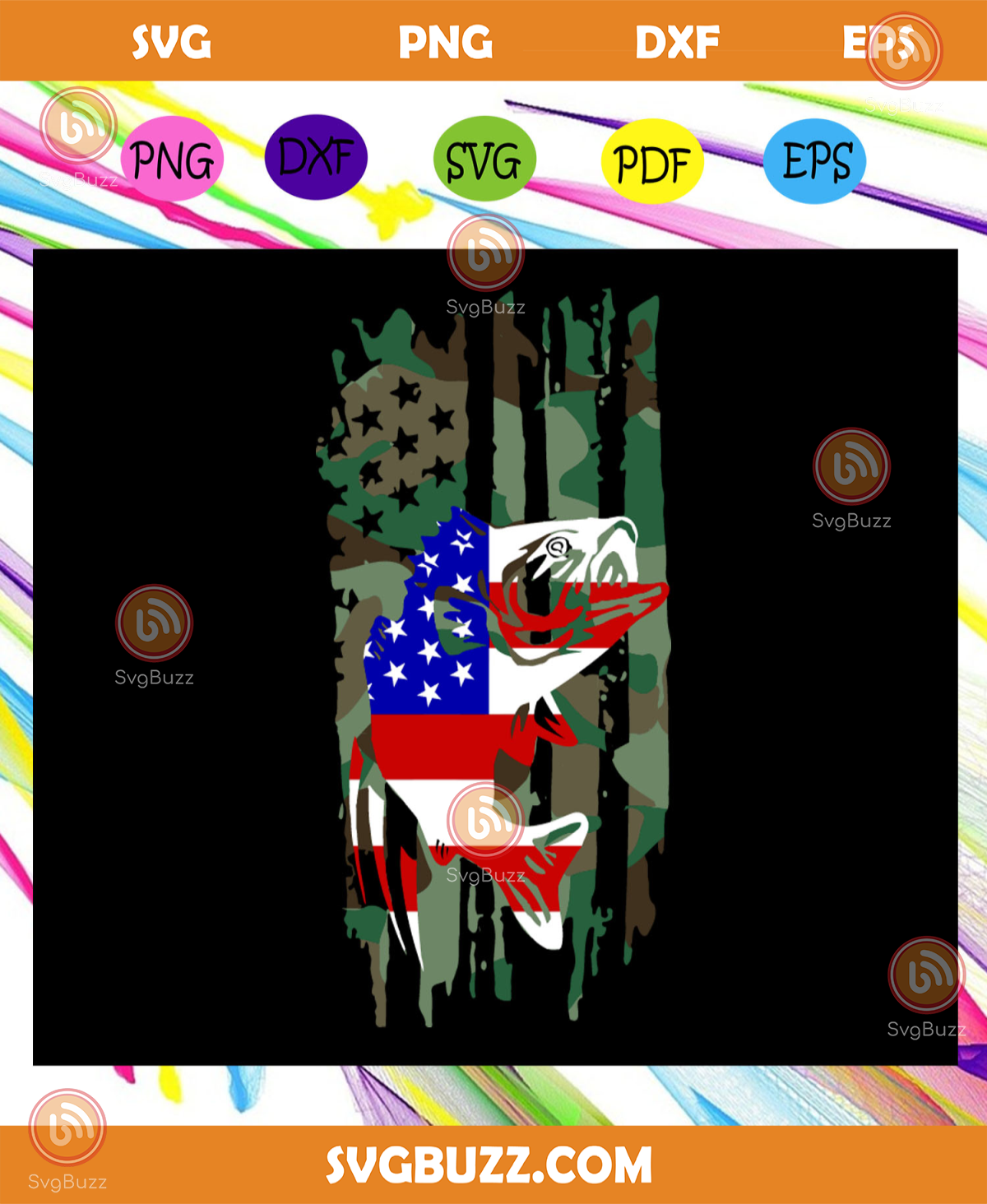 Download Fishing American Flag 4th Of July Svg American Flag Svg Fourth Of July Svg America Svg Patriotic American Svg Independence Day Svg Memorial Day Files For Silhouette Files For Cricut Svg Dxf Eps