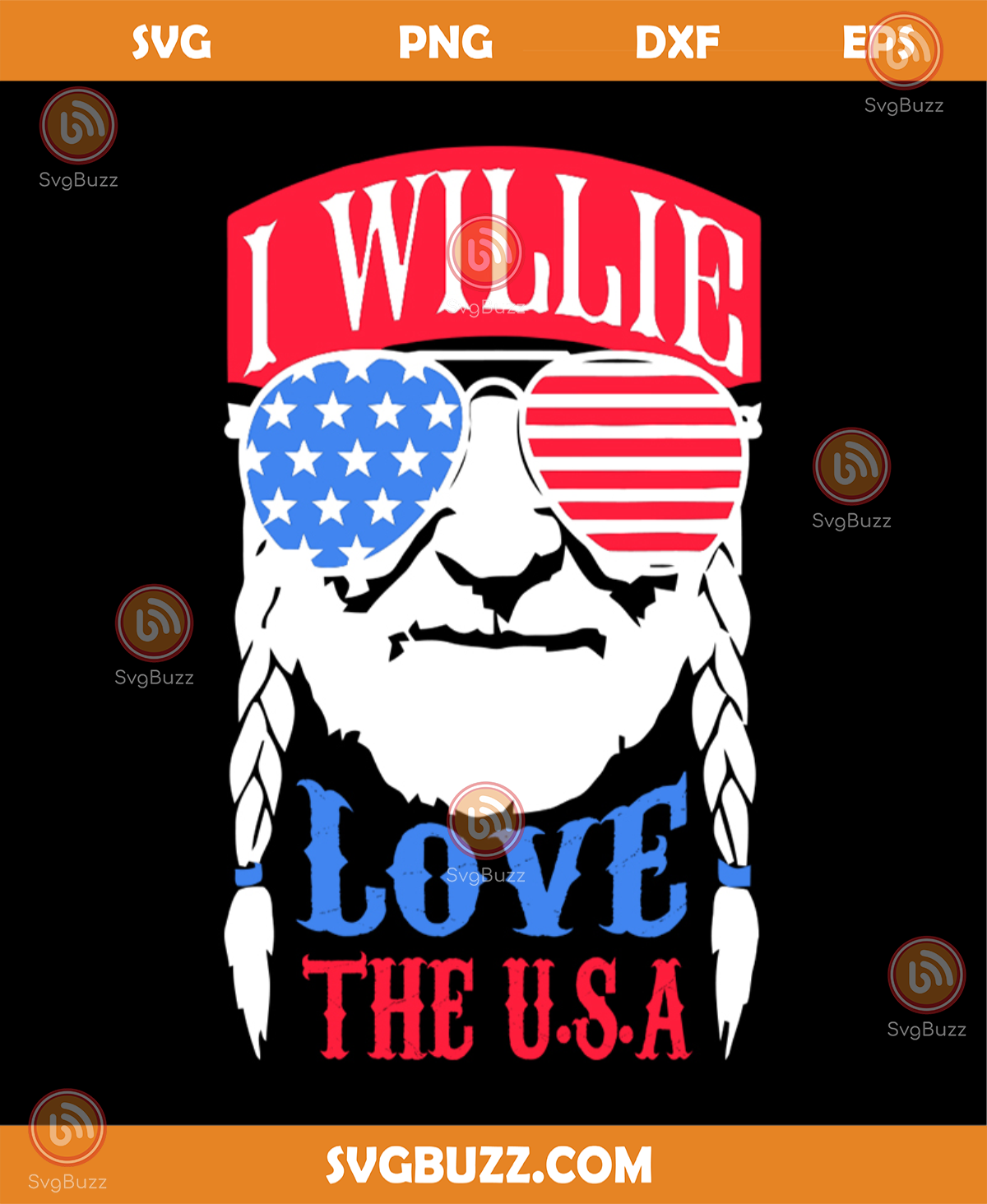 Download I willie love the usa svg, independence day svg, 4th of ...