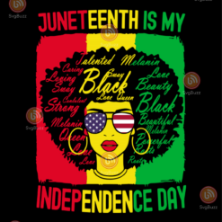 Juneteenth is my independence day svg TD26082020